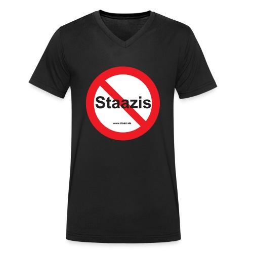 Staazis Verboten - Männer Bio-T-Shirt mit V-Ausschnitt von Stanley & Stella