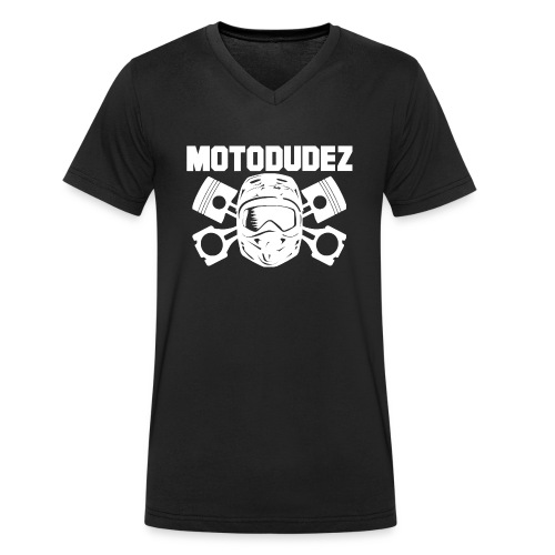 Beutel MOTODUDEZ - Männer Bio-T-Shirt mit V-Ausschnitt von Stanley & Stella