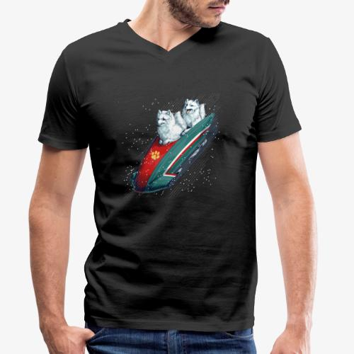 Arctic Fox Bobsleigh - Men's Organic V-Neck T-Shirt by Stanley & Stella