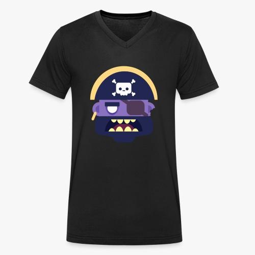 Mini Monsters - Captain Zed - Økologisk Stanley & Stella T-shirt med V-udskæring til herrer