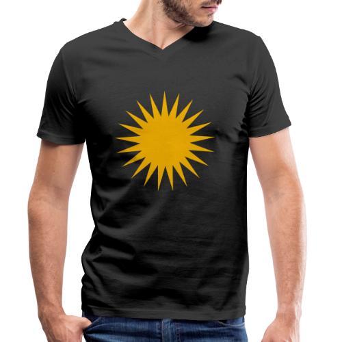 Kurdische Sonne Symbol - Männer Bio-T-Shirt mit V-Ausschnitt von Stanley & Stella