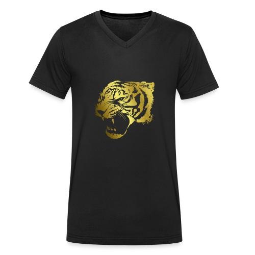 Tigeronly - Männer Bio-T-Shirt mit V-Ausschnitt von Stanley & Stella