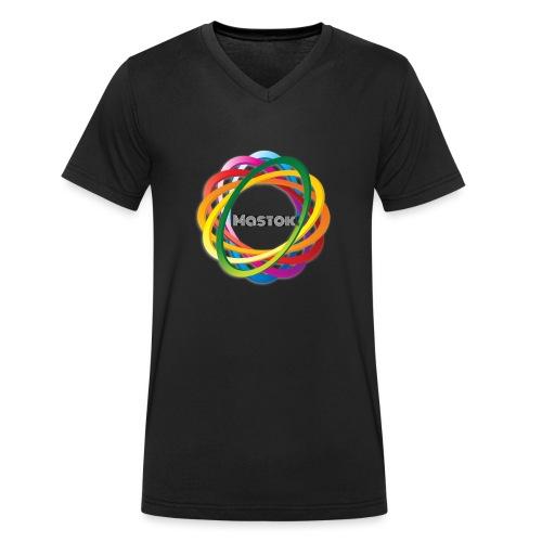 Mastok`s Logo - Männer Bio-T-Shirt mit V-Ausschnitt von Stanley & Stella