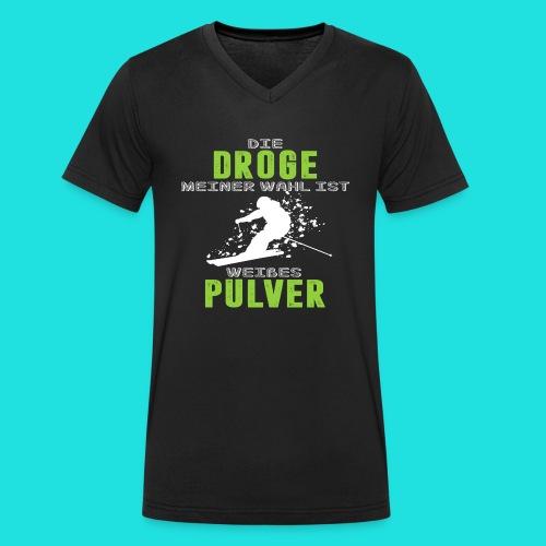 Ski fahren Droge - Männer Bio-T-Shirt mit V-Ausschnitt von Stanley & Stella