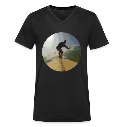 Isle_of_Surfing - Men's Organic V-Neck T-Shirt by Stanley & Stella