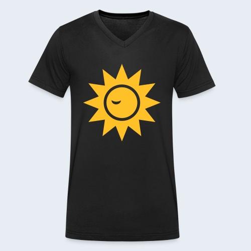 Winky Sun - Mannen bio T-shirt met V-hals van Stanley & Stella