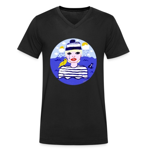 the sailor in love with the sea - Männer Bio-T-Shirt mit V-Ausschnitt von Stanley & Stella
