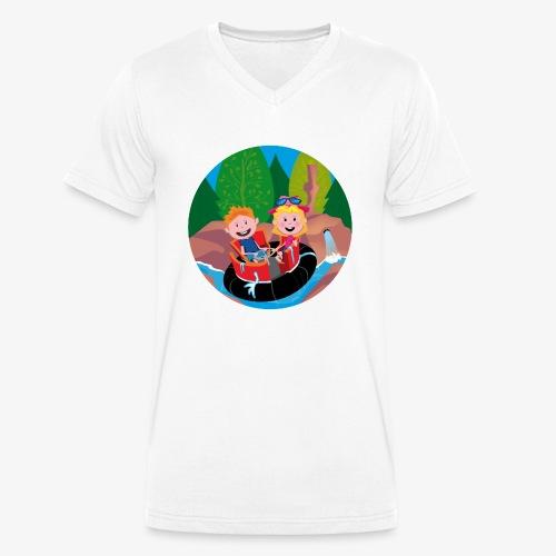 Themepark: Rapids - Mannen bio T-shirt met V-hals van Stanley & Stella