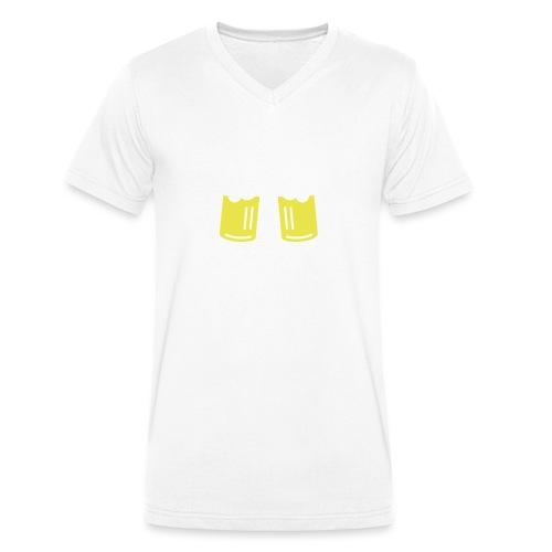 Bier Smiley – Oktoberfest – Bierzelt – Aprèski - Männer Bio-T-Shirt mit V-Ausschnitt von Stanley & Stella