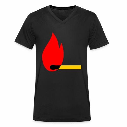 firewood - Männer Bio-T-Shirt mit V-Ausschnitt von Stanley & Stella