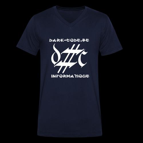 Dark-Code Gothic Logo - T-shirt bio col V Stanley & Stella Homme