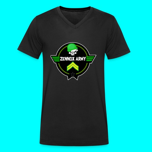 Zennox Army Design - Men's Organic V-Neck T-Shirt by Stanley & Stella