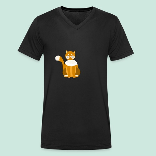 Kitty cat - Men's Organic V-Neck T-Shirt by Stanley & Stella