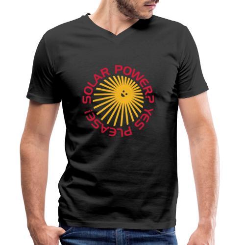 BD Solar Power - Männer Bio-T-Shirt mit V-Ausschnitt von Stanley & Stella