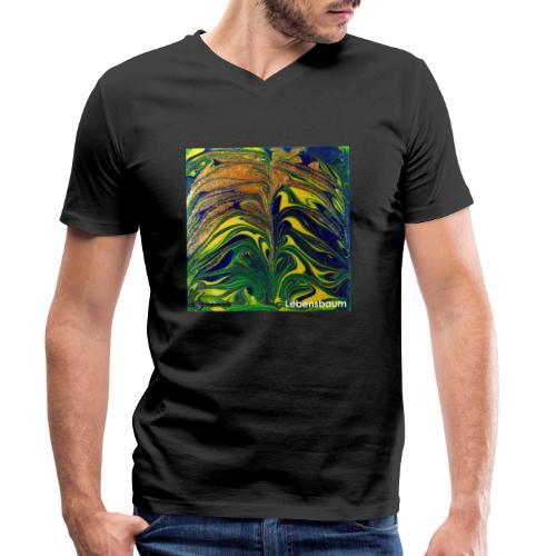 TIAN GREEN Mosaik DE029 - Lebensbaum - Männer Bio-T-Shirt mit V-Ausschnitt von Stanley & Stella
