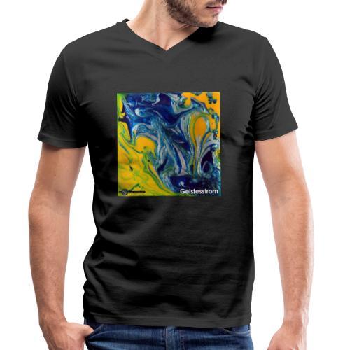 TIAN GREEN Mosaik DE031 - Geistesstrom - Männer Bio-T-Shirt mit V-Ausschnitt von Stanley & Stella