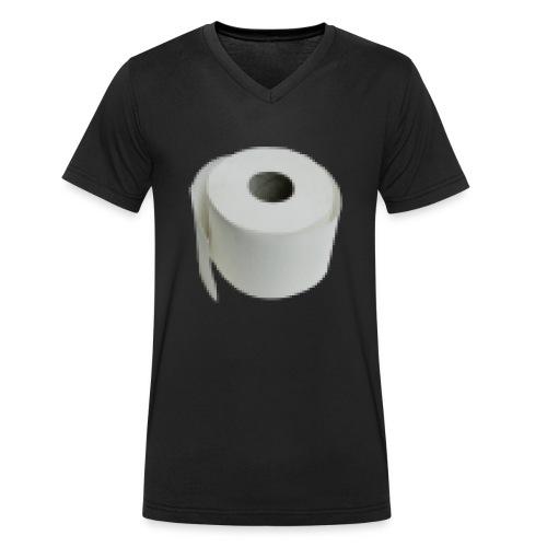 Pixel Papier - Männer Bio-T-Shirt mit V-Ausschnitt von Stanley & Stella