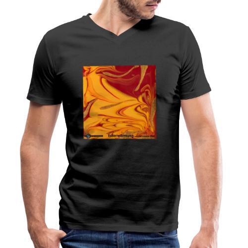 TIAN GREEN Mosaik DE102 - Erderwärmung zerstört .. - Männer Bio-T-Shirt mit V-Ausschnitt von Stanley & Stella