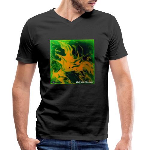 TIAN GREEN Mosaik DE002 - Welt der Wunder - Männer Bio-T-Shirt mit V-Ausschnitt von Stanley & Stella