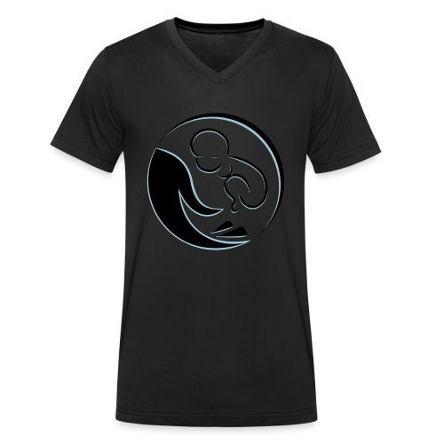 Baby in der Hand - Männer Bio-T-Shirt mit V-Ausschnitt von Stanley & Stella