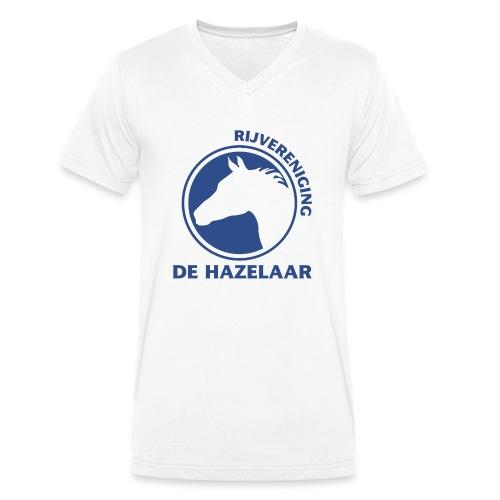 LgHazelaarPantoneReflexBl - Mannen bio T-shirt met V-hals van Stanley & Stella