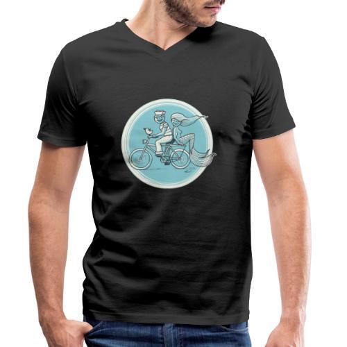 To the Beach - Backround - Männer Bio-T-Shirt mit V-Ausschnitt von Stanley & Stella