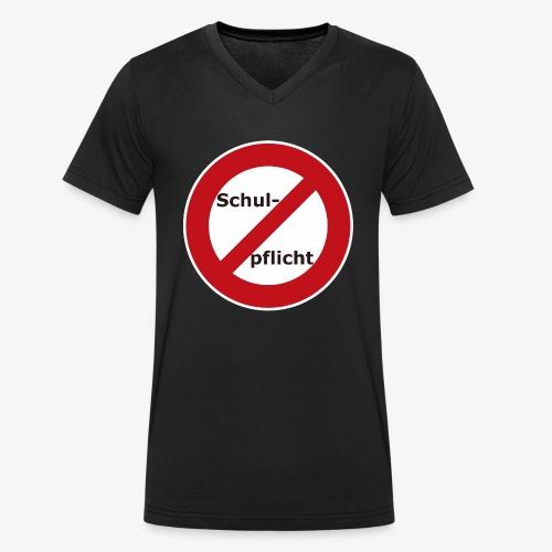 Schulpflicht abschaffen!! - Männer Bio-T-Shirt mit V-Ausschnitt von Stanley & Stella