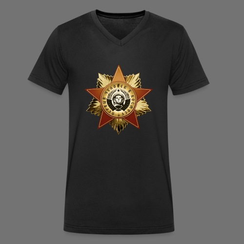 Cosmonaut Medal - Men's Organic V-Neck T-Shirt by Stanley & Stella