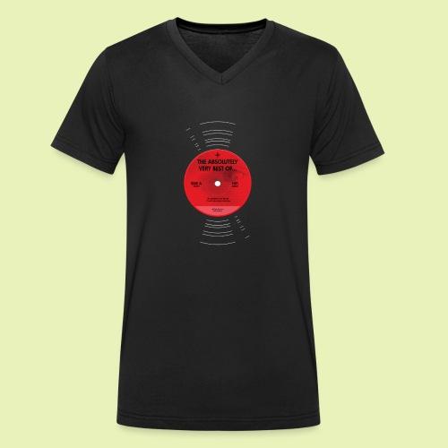Record label - Mannen bio T-shirt met V-hals van Stanley & Stella