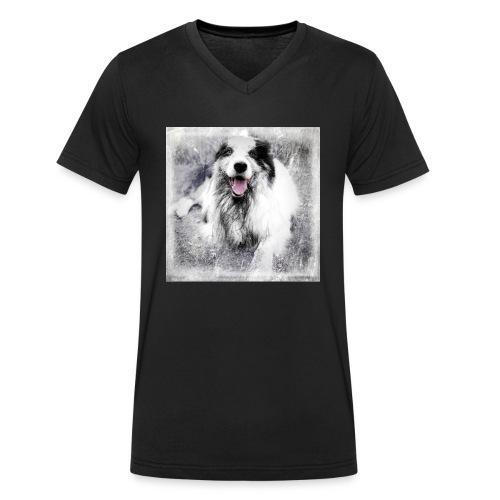 Cody bw - Männer Bio-T-Shirt mit V-Ausschnitt von Stanley & Stella