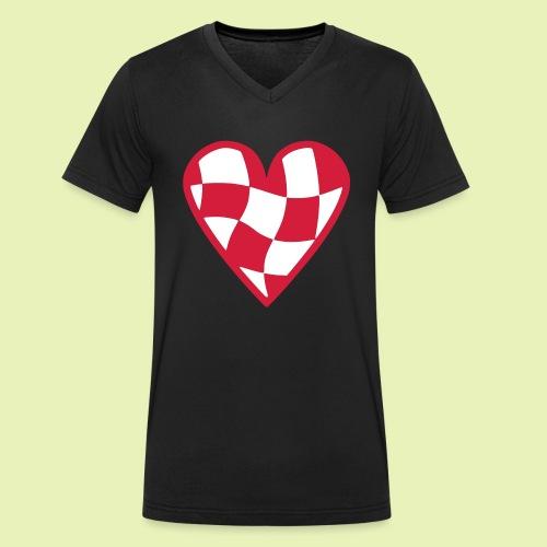 Brabant hart - Mannen bio T-shirt met V-hals van Stanley & Stella