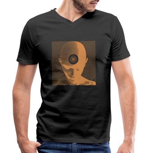 Free-Mind ShriYantra gold - Männer Bio-T-Shirt mit V-Ausschnitt von Stanley & Stella