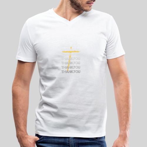 DANKE Jesus, das Geschenk für Christen THANKYOU - Männer Bio-T-Shirt mit V-Ausschnitt von Stanley & Stella