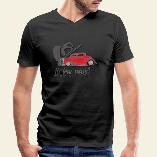 v8 true music - Økologisk Stanley & Stella T-shirt med V-udskæring til herrer
