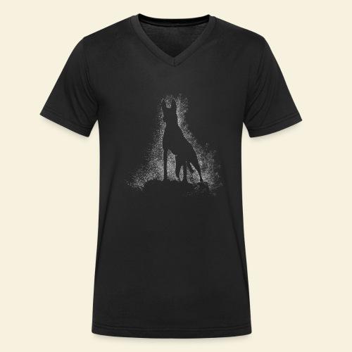 Dog Silhouette - Männer Bio-T-Shirt mit V-Ausschnitt von Stanley & Stella