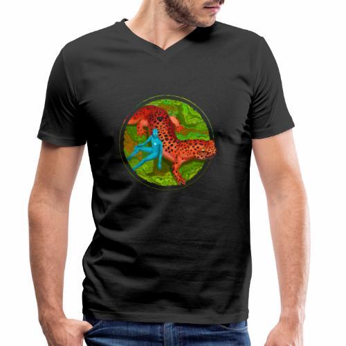 Fiersalamander with fairy - Männer Bio-T-Shirt mit V-Ausschnitt von Stanley & Stella