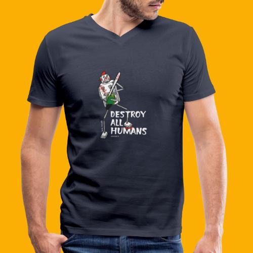 Dat Robot: Destroy Series Killer Clown Dark - Mannen bio T-shirt met V-hals van Stanley & Stella