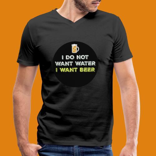 Beer - Men's Organic V-Neck T-Shirt by Stanley & Stella