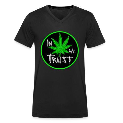 In weed we trust - Camiseta ecológica hombre con cuello de pico de Stanley & Stella