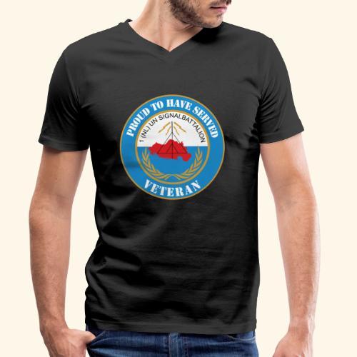 1 nl un signalbattalion veteraan - Mannen bio T-shirt met V-hals van Stanley & Stella