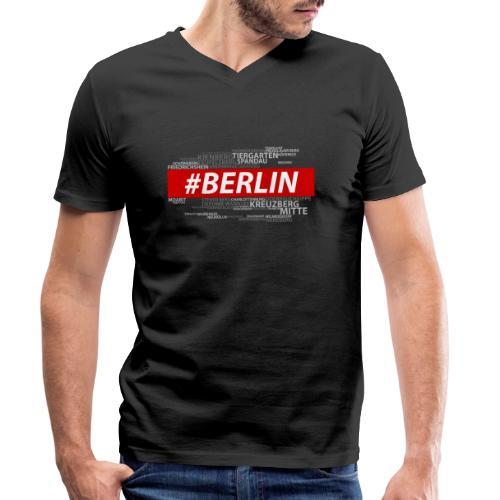 Hashtag Berlin - Männer Bio-T-Shirt mit V-Ausschnitt von Stanley & Stella