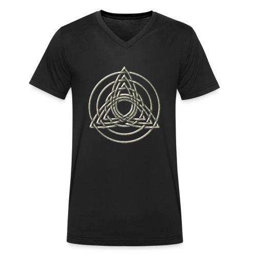 Triple Triquetra, Keltisches Symbol Dreifaltigkeit - Männer Bio-T-Shirt mit V-Ausschnitt von Stanley & Stella
