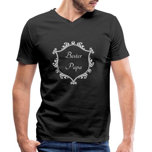 Bester Papa - Männer Bio-T-Shirt mit V-Ausschnitt von Stanley & Stella