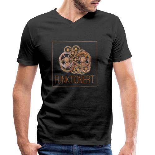 Zahnräder shirt - Männer Bio-T-Shirt mit V-Ausschnitt von Stanley & Stella
