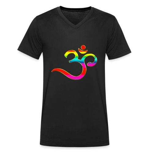 Om Mantra Symbol Yoga Regenbogen - Männer Bio-T-Shirt mit V-Ausschnitt von Stanley & Stella