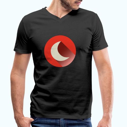 crescent - Men's Organic V-Neck T-Shirt by Stanley & Stella