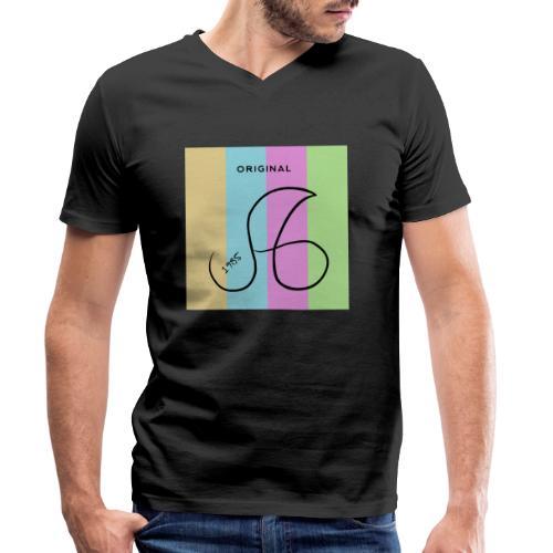 Marken Logo ag 1985 - Männer Bio-T-Shirt mit V-Ausschnitt von Stanley & Stella