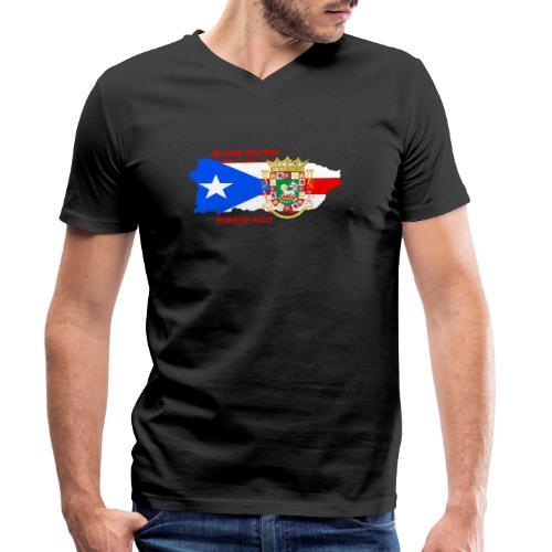 Puerto Rico Island Holiday - Männer Bio-T-Shirt mit V-Ausschnitt von Stanley & Stella
