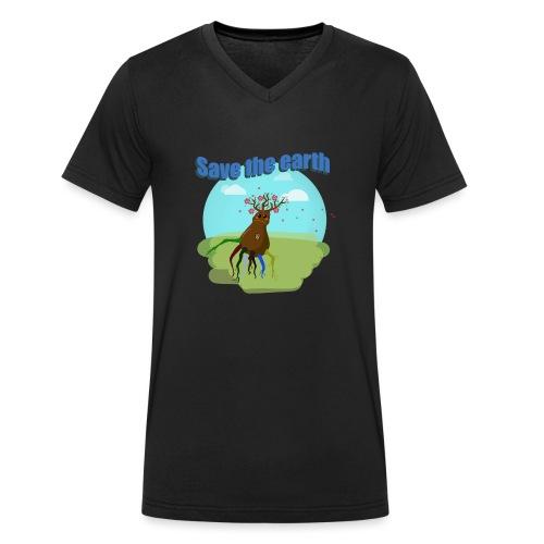 SAVE THE PLANET - T-shirt bio col V Stanley & Stella Homme