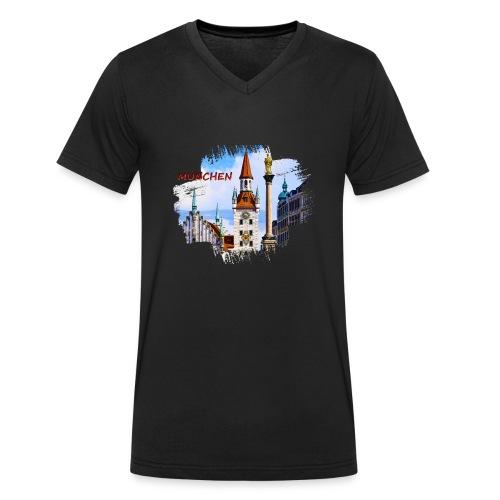 München Spielzeugmuseum und Altes Rathaus - Männer Bio-T-Shirt mit V-Ausschnitt von Stanley & Stella